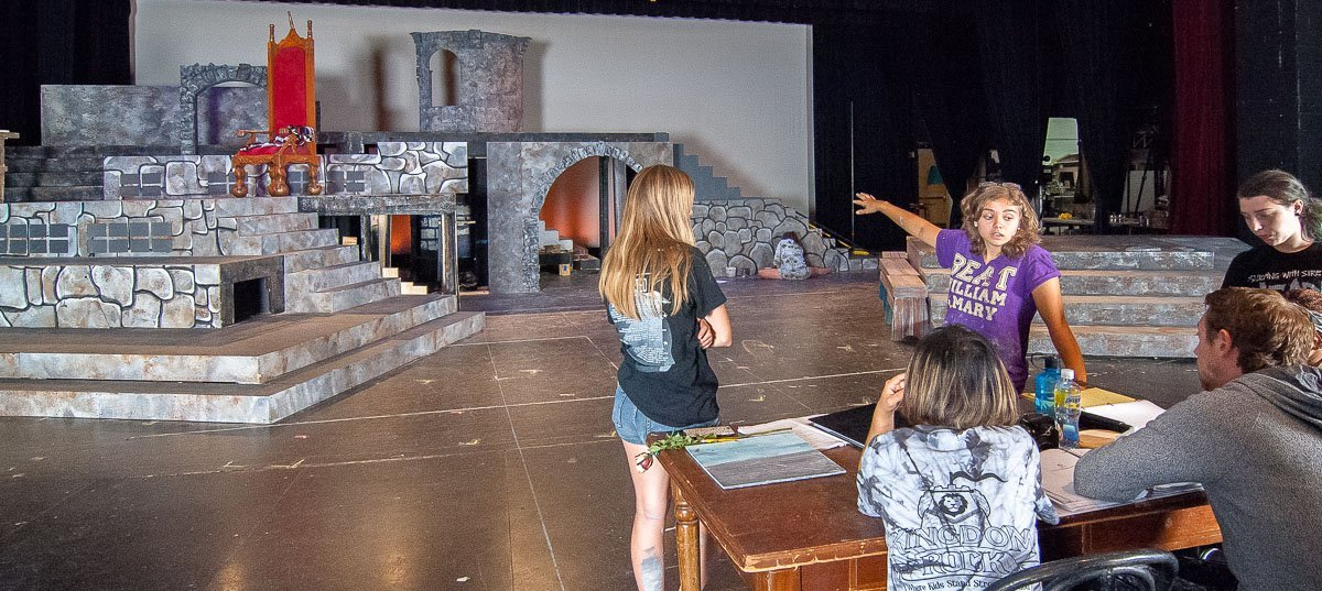 Addison Cole emerging scenic designer castle beauty and the beast consulting theatre theater set